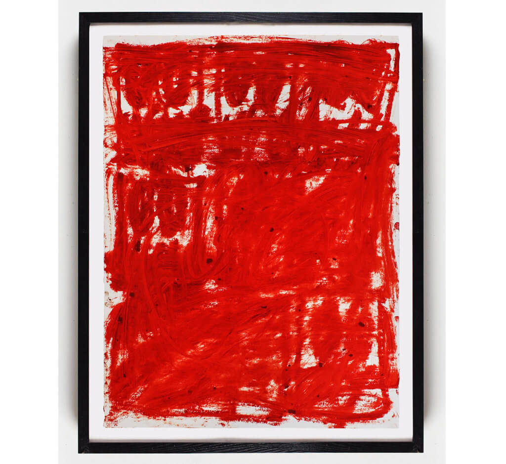 Untitled Anxious Red Drawing