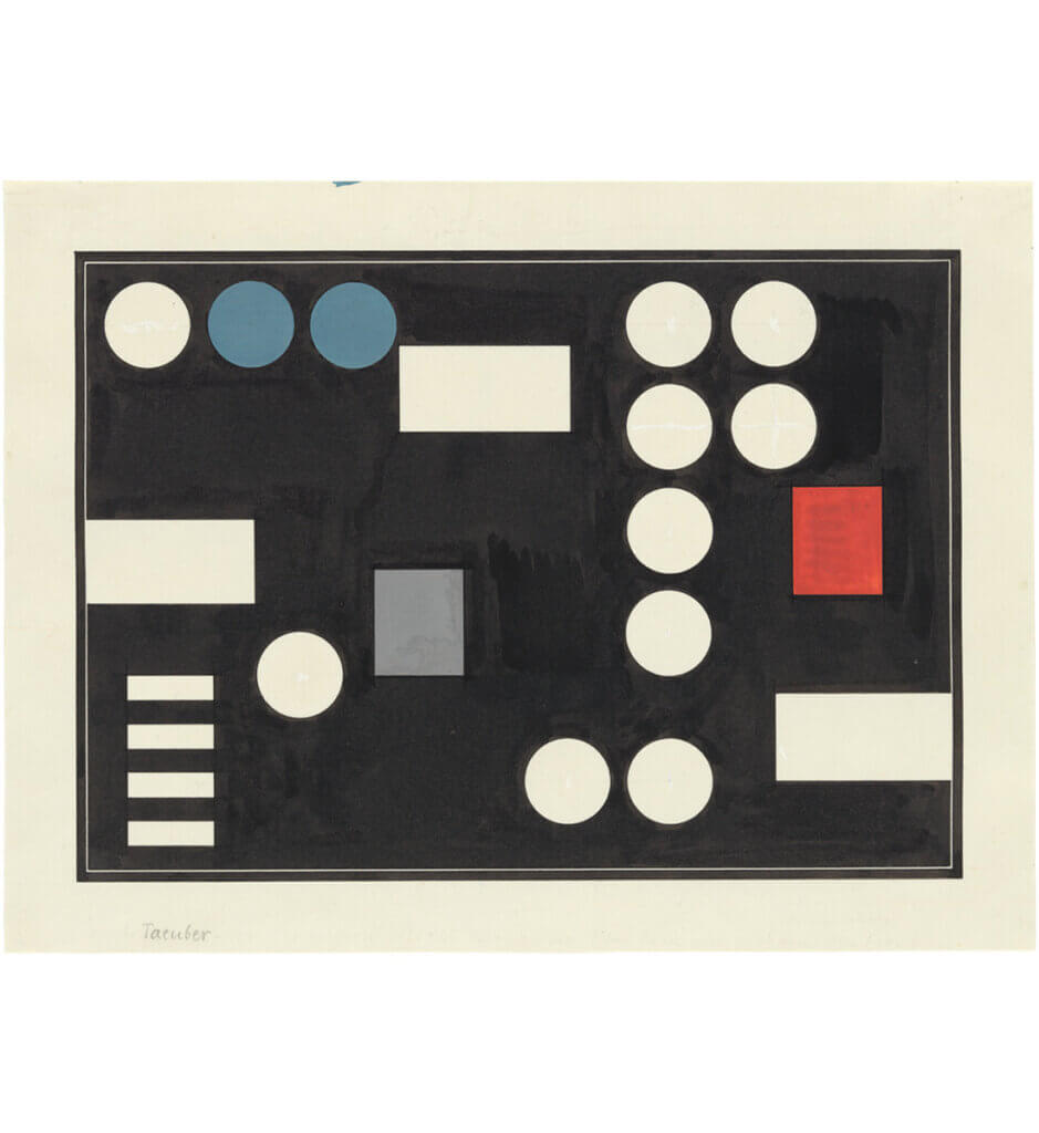 Composition à rectangles et cercles <br>(Composition with rectangles and circles