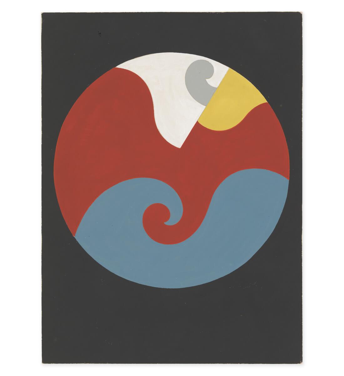 Composition dans un cercle (à volutes) <br>[Composition in a circle (with volutes)]