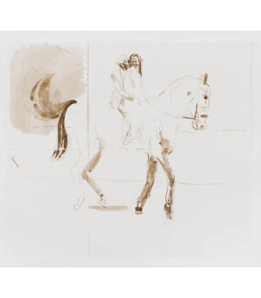 Romantic moment on a horse (study)