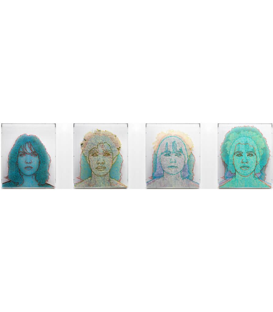 Numbers and Faces: Multi-Racial/Ethnic Combinations Series 1, Set A: Face #1, Nour Mobarak (Levantine/White European); Face #2, Michael Gross (Filipino/Black); Face #3, Caley Feeney (Alaskan Native (Yup'ik)/Irish American); Face #4, Dakota Higgins (Afro-Panamanian/White)