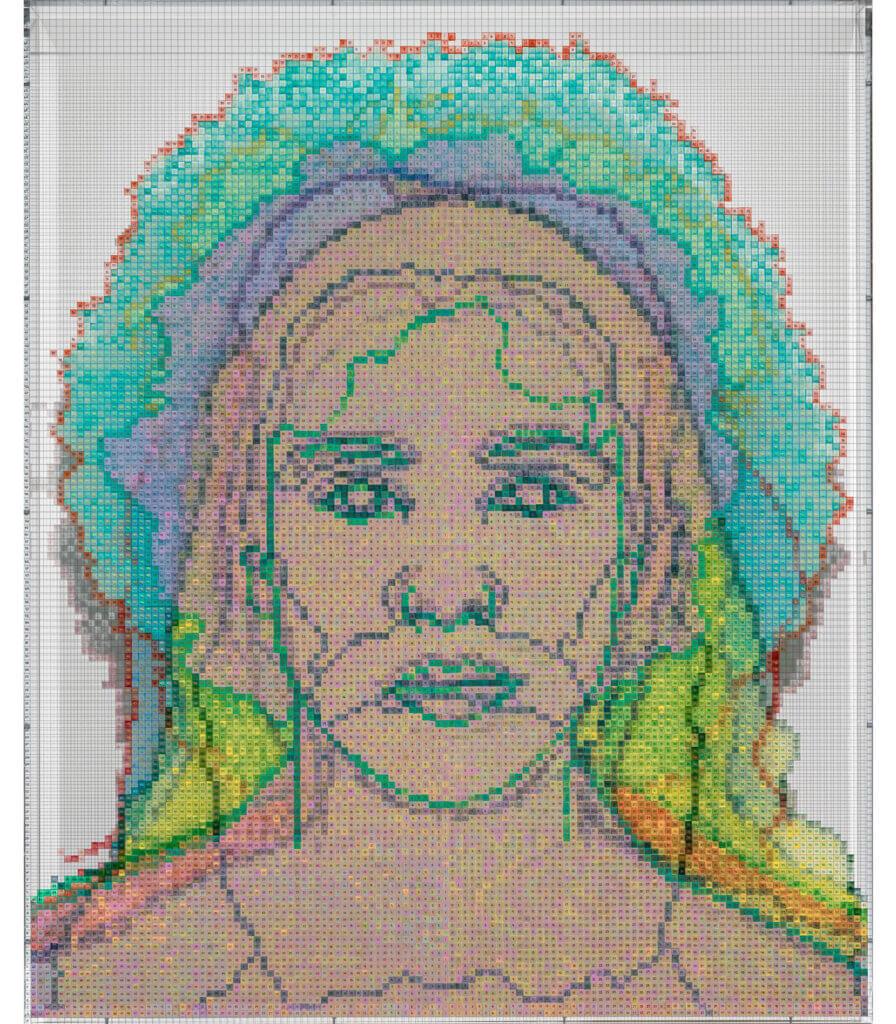 Numbers and Faces: Multi-Racial/Ethnic Combinations Series 1: Face #13, Ellen Yoshi Tani (Japanese/Irish/Danish/English)