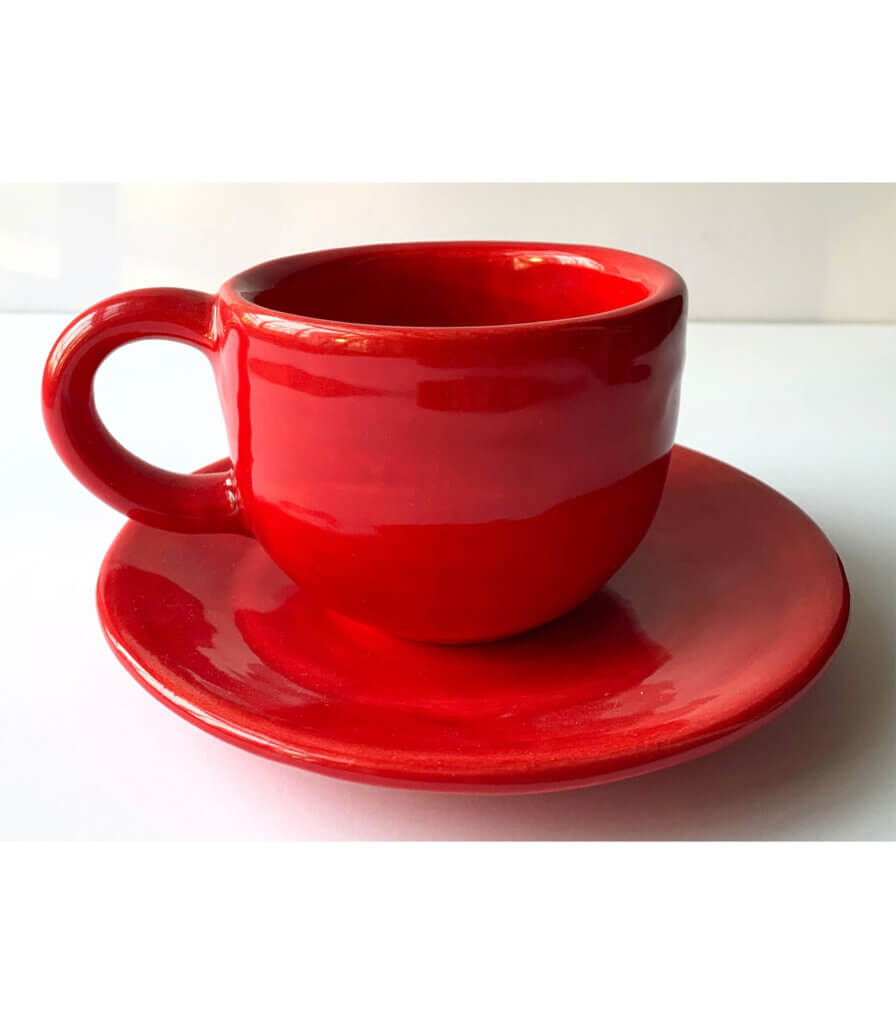 Red Cup and Saucer [B]